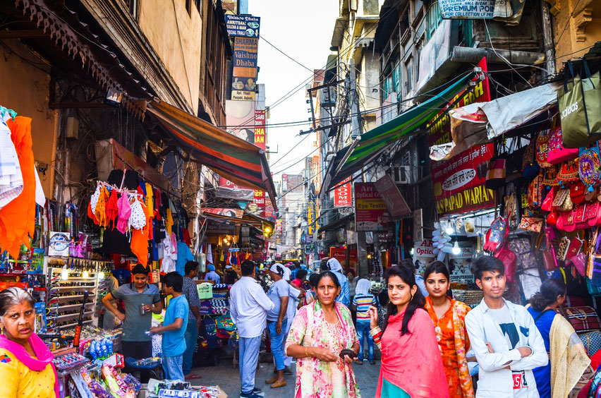 Straßen und Gassen durch Indien