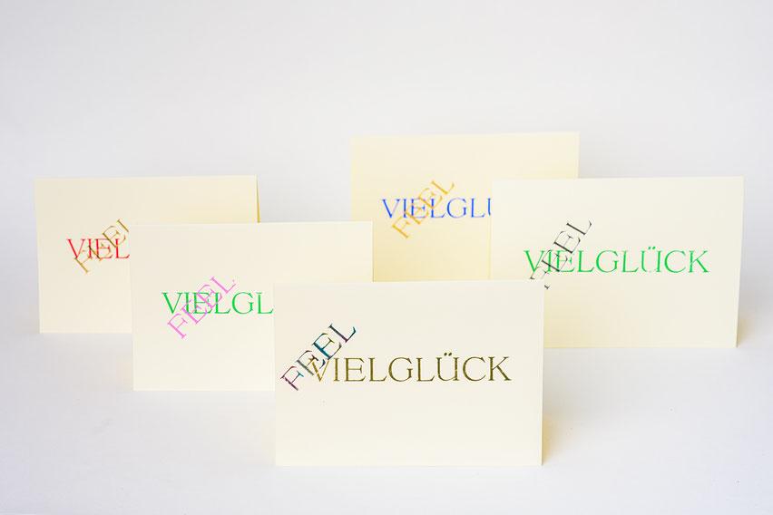 FEELGLÜCK Viel Glück Briefkarte mit Umschlag