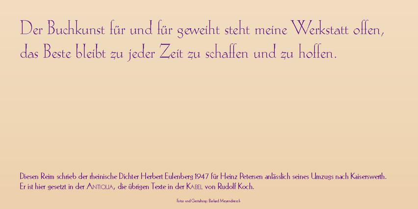 Innenseite der Karte mit dem Zitat von Herbert Eulenberg