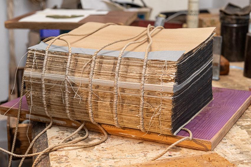 Buchblock Lagen geheftet