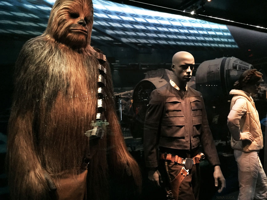 image: nina luca, star wars, star wars identities, star wars münchen, star wars exhibition, jedi, lightsaber, millenium falcon, starship, han solo, princess leia, chewbacca