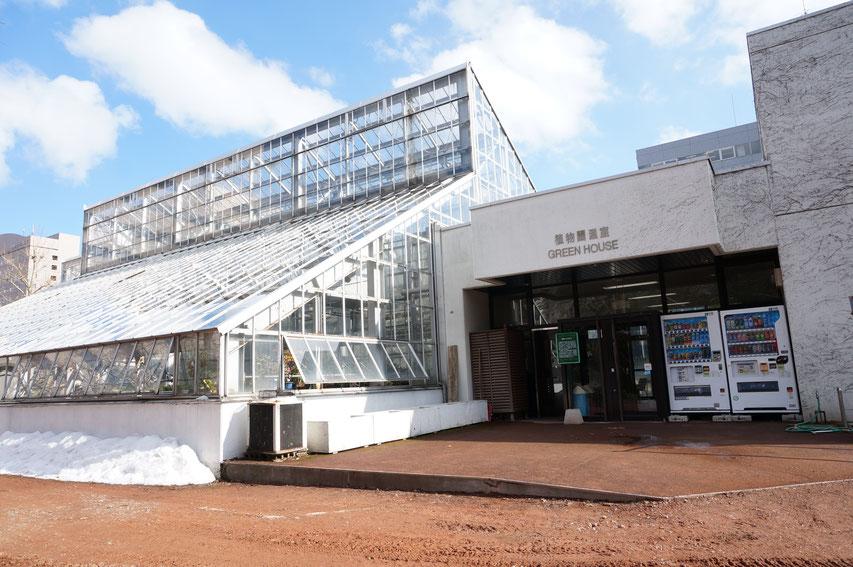 北大植物園温室前