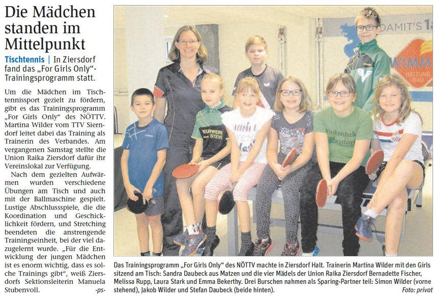 Bereits seit Jahren engagiert sich Martina Wilder mit Ewelina Kolodziejczyk für den Mädchensport in Niederösterreich.
