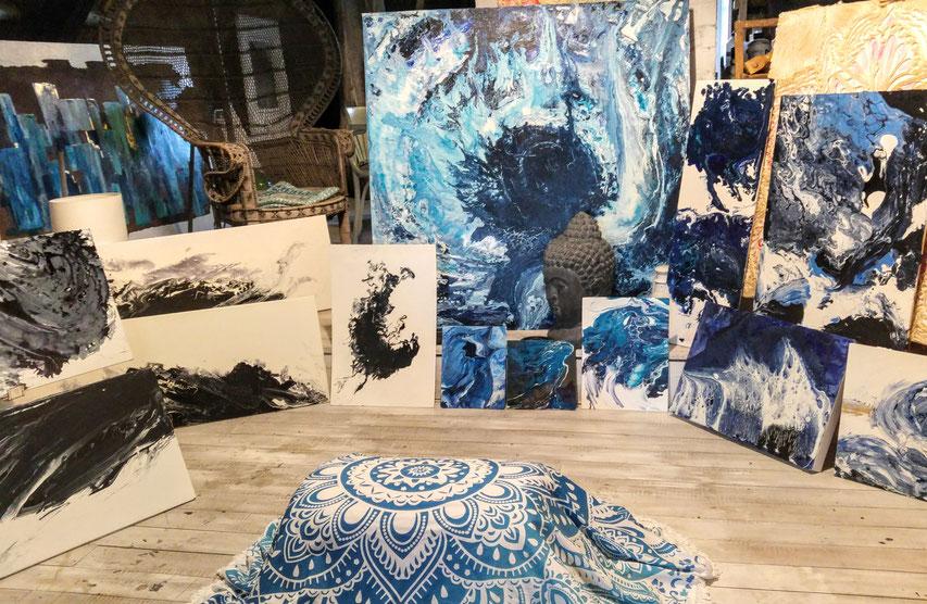 kreativer Farbrausch Loslassen Abschalten Eintauchen ins Sommerhus Atelier