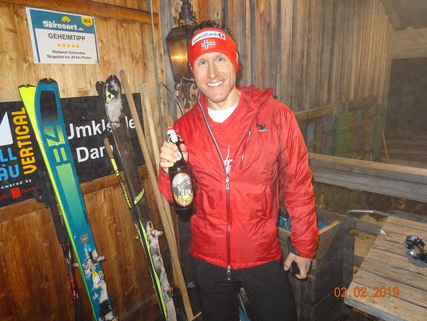 Steffen startet in die neue Saison mit einem 12. Gesamtrang beim Allgäu Vertical in Ofterschwang - 7. Rang in der Läuferkategorie (Foto: Schorsch Waltner)