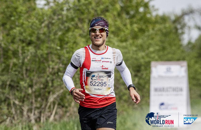 Mit dem 16. Gesamtrang im Global Ranking und Rang 4 in München belohnte sich Steffen selbst. (Foto: Wings for Life / München)