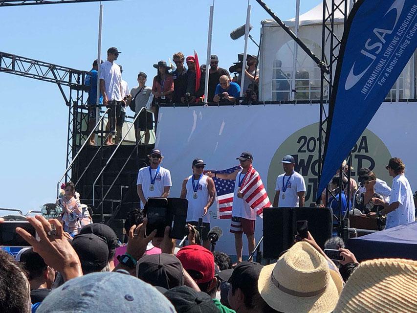 アメリカはシルバーメダルを獲得