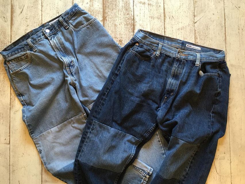 Sunny Side Up(サニーサイドアップ) Knee Sand Denim PT Pants 各¥15,800(+TAX)