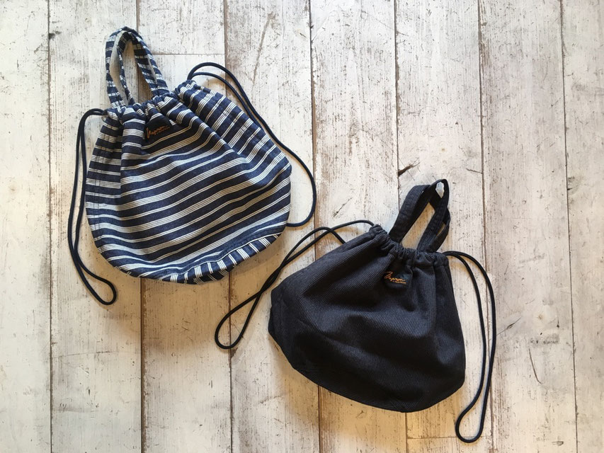 NAPRON(ナプロン) ARMY PATIENTS BAG (INDIGO BORDER) & (BLACK STRIPE) 各¥5,000(+TAX)