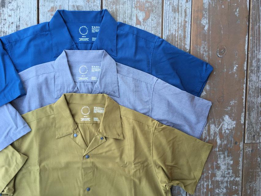 山と道(ヤマトミチ) Bamboo Short Sleeve Shirt 各¥8,500(+TAX)