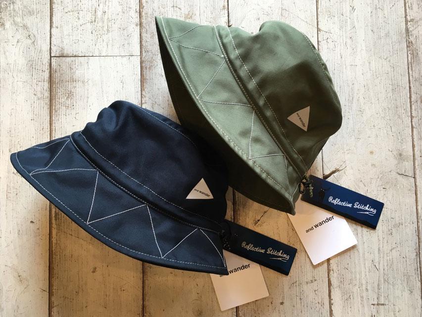 and wander(アンドワンダー)cotton ox nylon hat ¥10,800(税込)