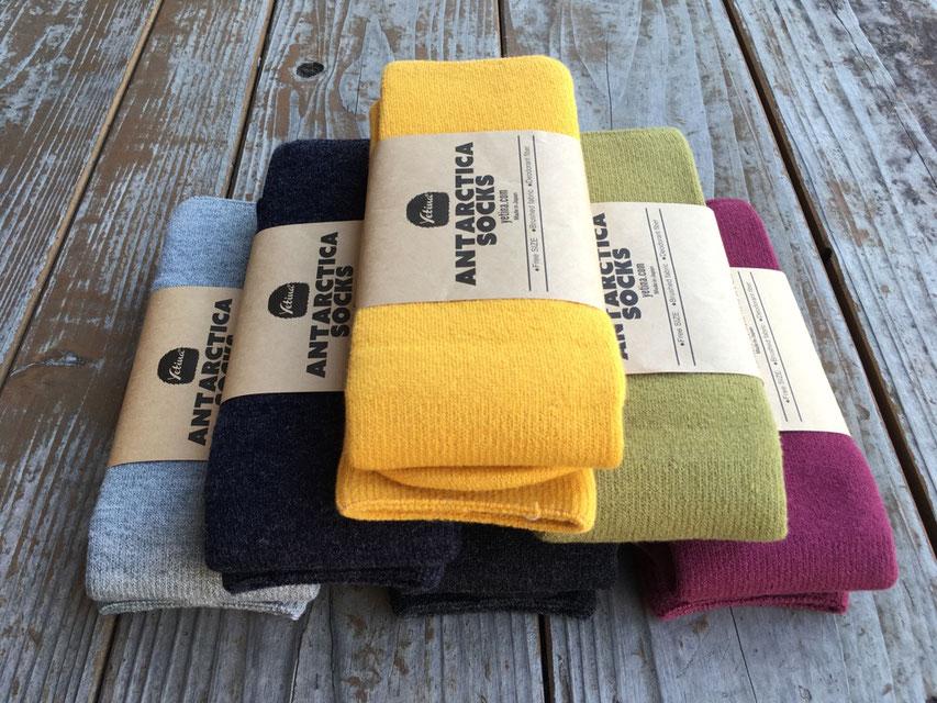 Yetina(イエティナ) Antarctica Socks 各¥2,700(+TAX)