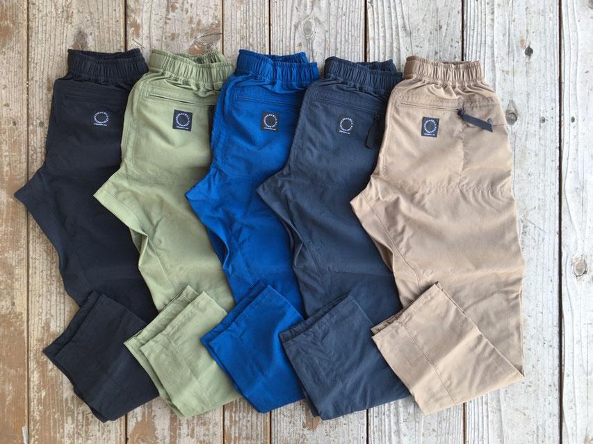 山と道(ヤマトミチ) 5-Pocket Pants 各¥15,500(+TAX)