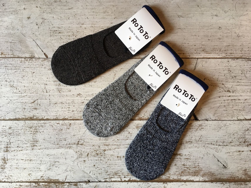 RoToTo(ロトト) LOW GAUGE LINEN FOOT COVER 各¥1,700(+TAX)