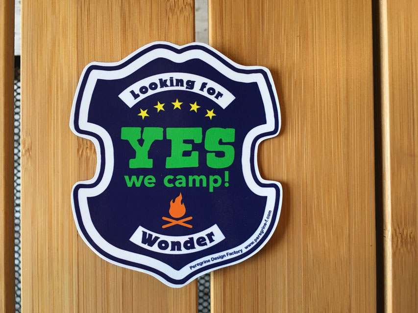 Peregrine Furniture(ペレグリンファニチャー)Yes We Camp ! Magnet by Jerry Ukai ¥1,000(+TAX)