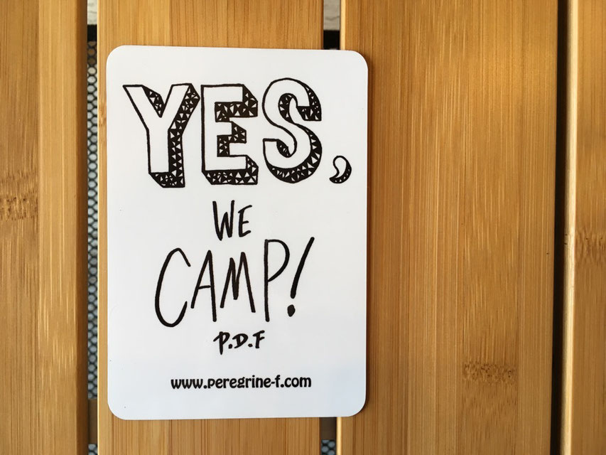 Peregrine Furniture(ペレグリンファニチャー) Yes We Camp ! Magnet by Ryuji Kamiyama ¥1,000(+TAX)