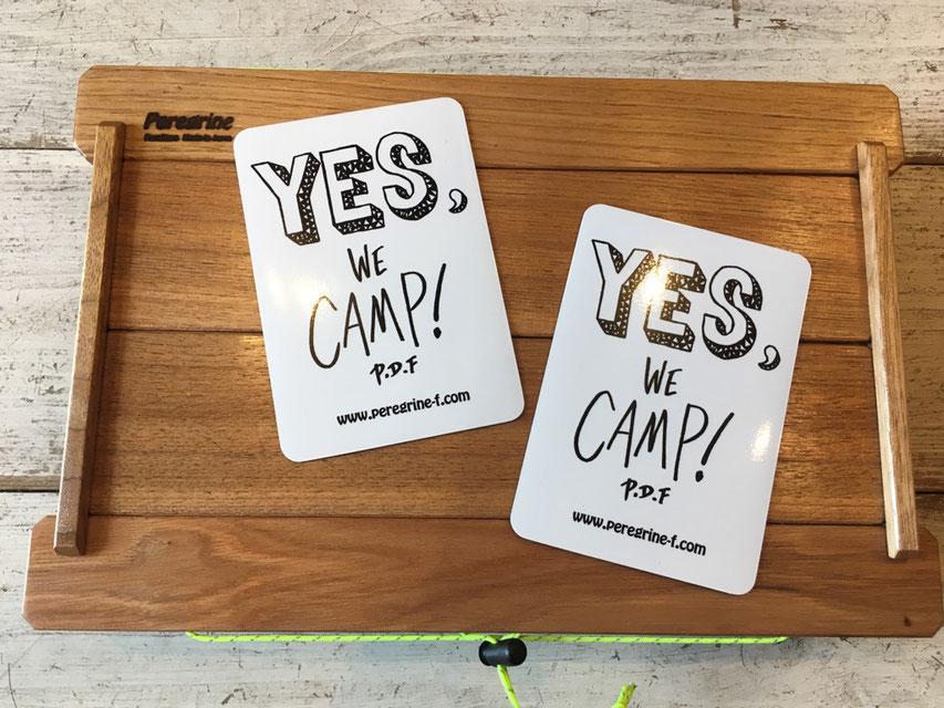 Peregrine Furniture(ペレグリンファニチャー) Yes We Camp ! Magnet by Ryuji Kamiyama ¥1,080(税込)