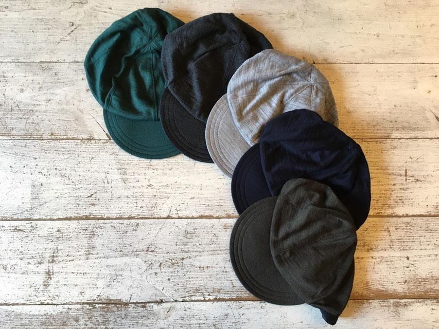 山と道(ヤマトミチ) Merino Wool Cap 各¥4,500(+TAX)