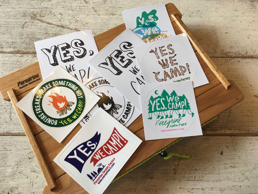 Peregrine Furniture(ペレグリンファニチャー) Yes We Camp ! Assort Sticker Set(4枚) ¥864(税込)