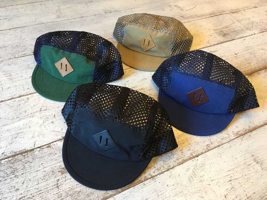 velo spica(ヴェロスピカ) Pig Snout Camp Caps 各¥5,400(+TAX)