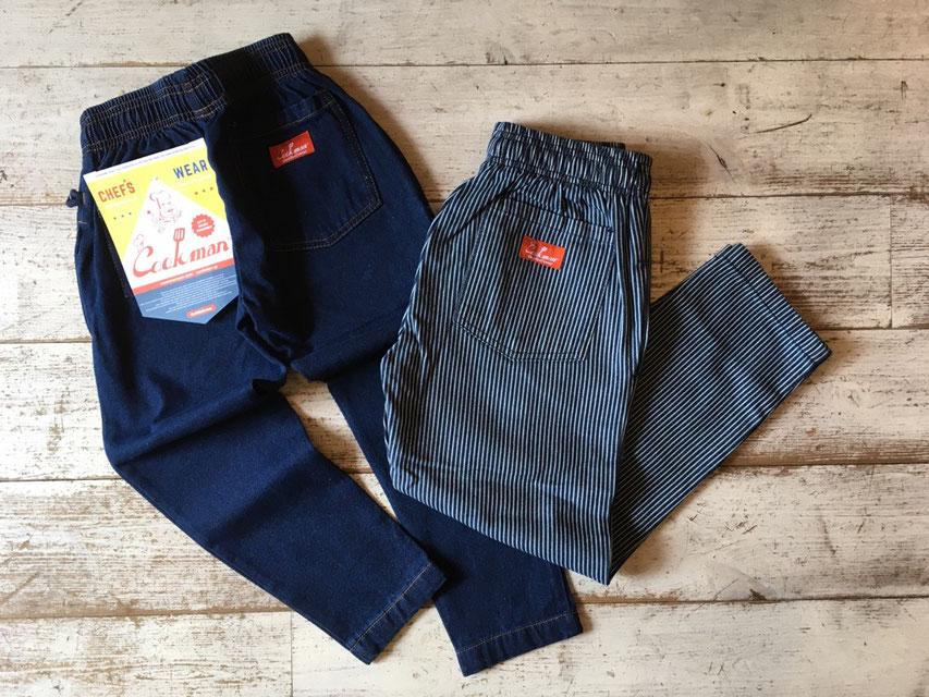 Cookman(クックマン) Kids Chef Pants 各¥3,900(+TAX)