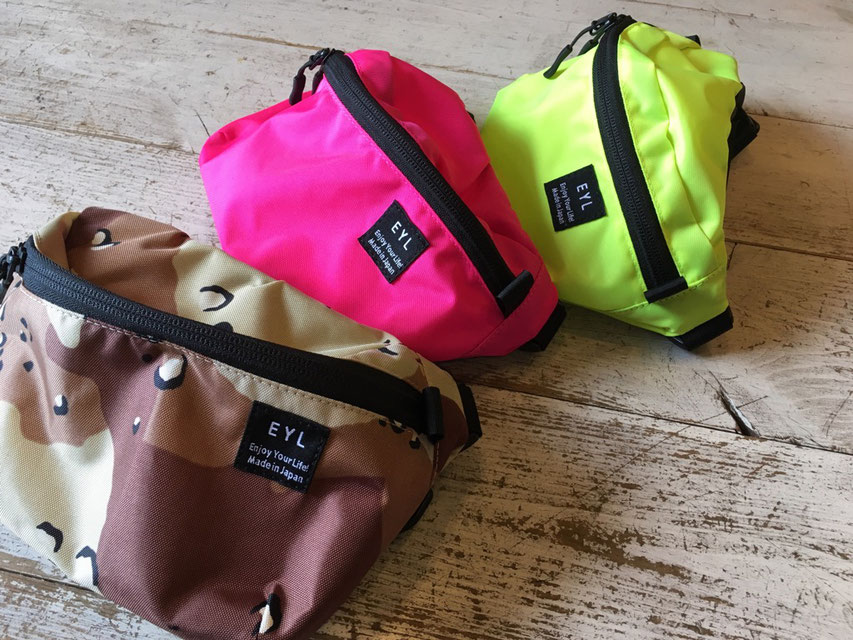 EYL(Enjoy Your Life !) Waist Bag 各¥7,000(+TAX)