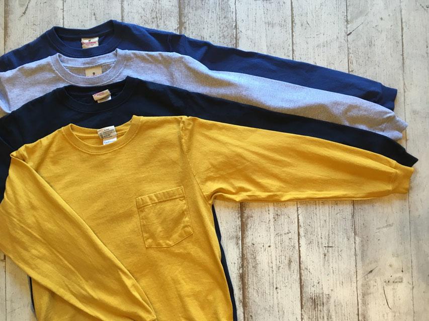 Goodwear(グッドウェア) LS Crew Neck Pocket Tee 各¥6,900(+TAX)