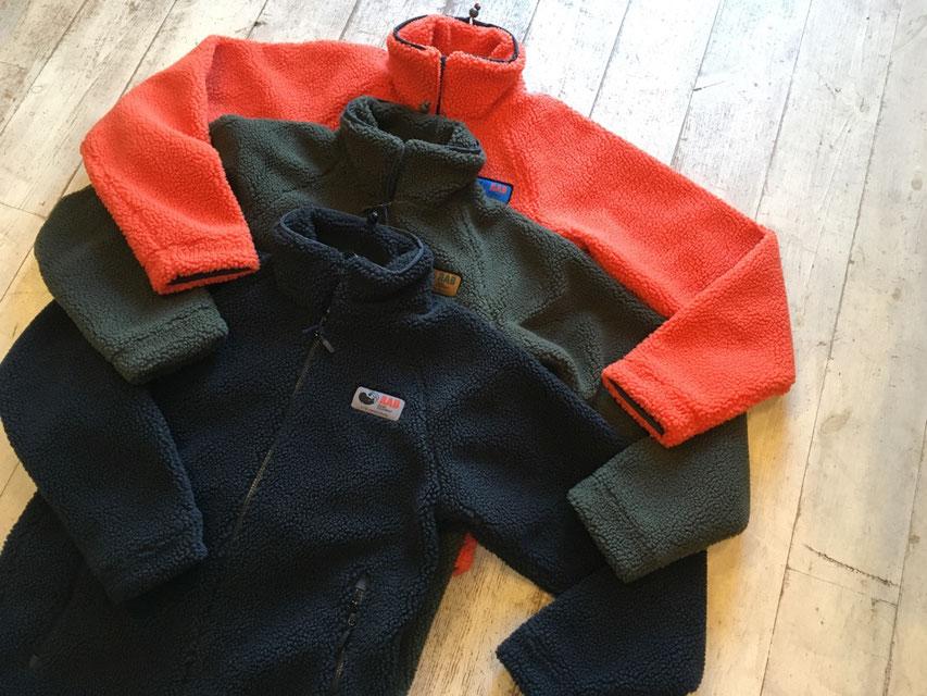 Rab(ラブ) Original Pile Jacket 各¥23,000(+TAX)