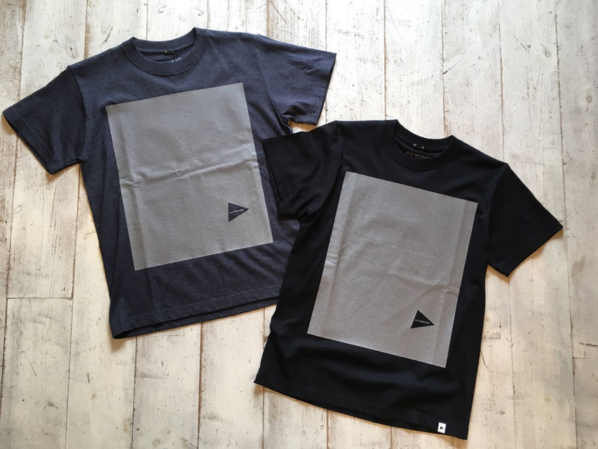 and wander(アンドワンダー) cotton reflect T 各¥7,000(+TAX)