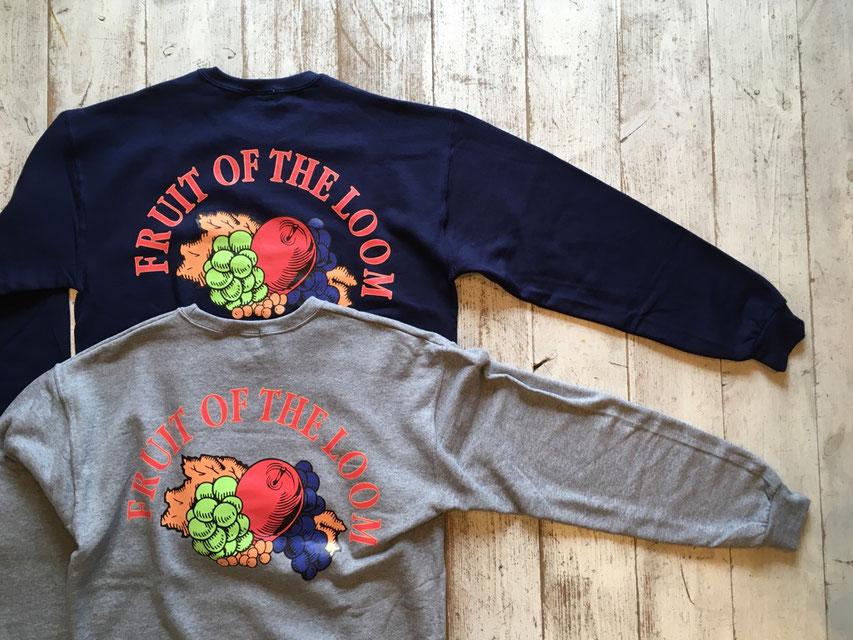 FRUIT OFF THE LOOM(フルーツオブザルーム) 90's Classic Logo Sweat Crew 各¥5,500(+TAX)