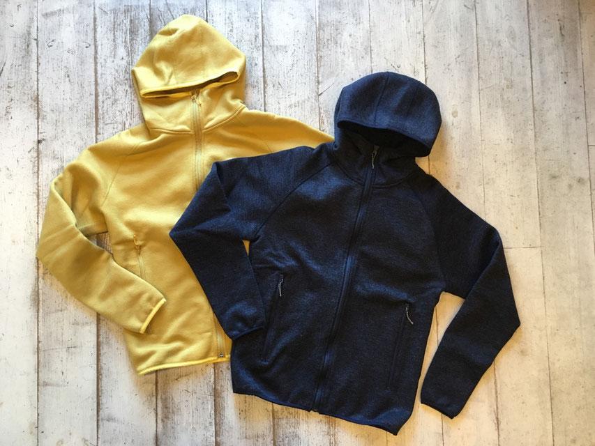 Yetina(イエティナ) fullzip hoodie(2018)各¥29,800(+TAX)