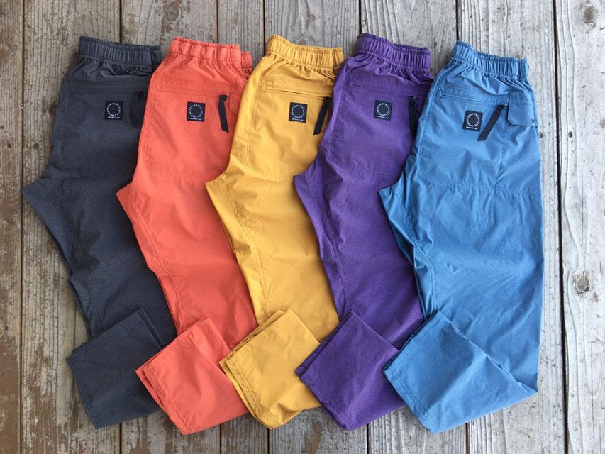 山と道(ヤマトミチ) Light 5-Pocket Pants (2021SSカラー) 各¥15,500(+TAX)