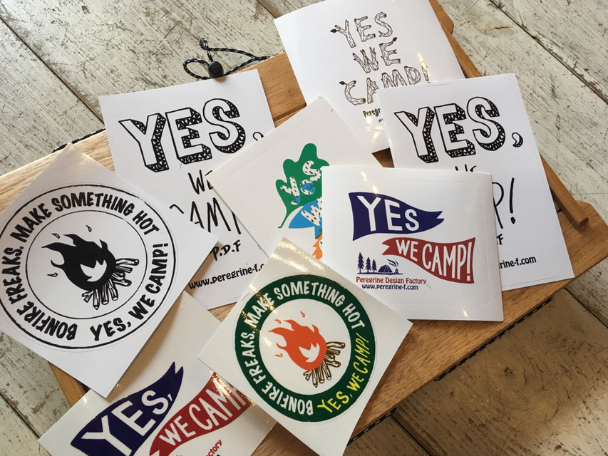 Peregrine Furniture(ペレグリンファニチャー) Yes We Camp ! Assort Sticker ¥756(税込)