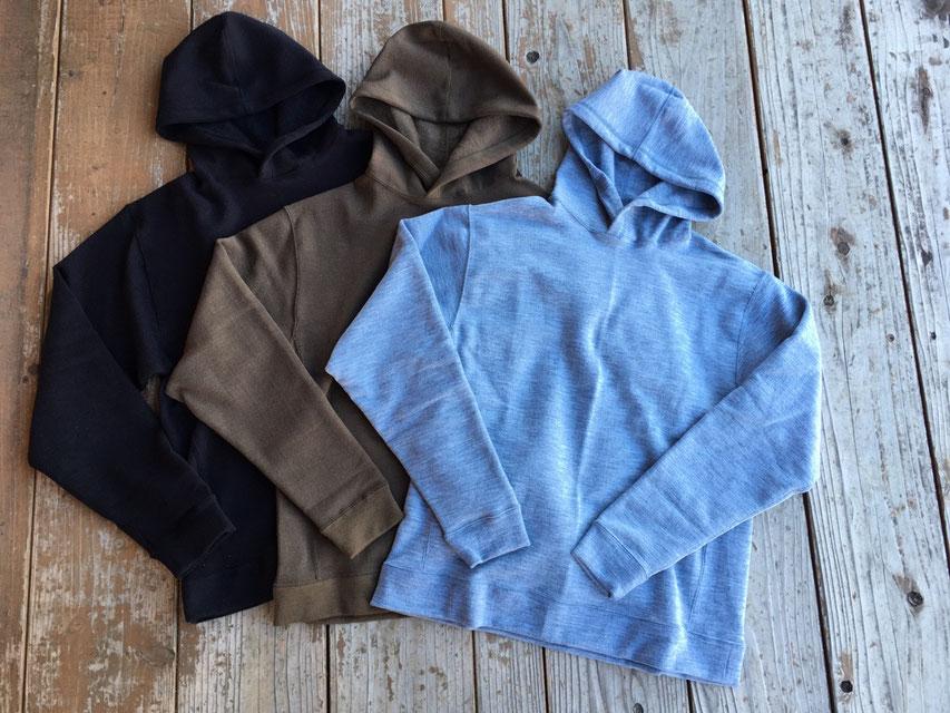 Yetina(イエティナ) light hoodie 各¥16,000(+TAX)