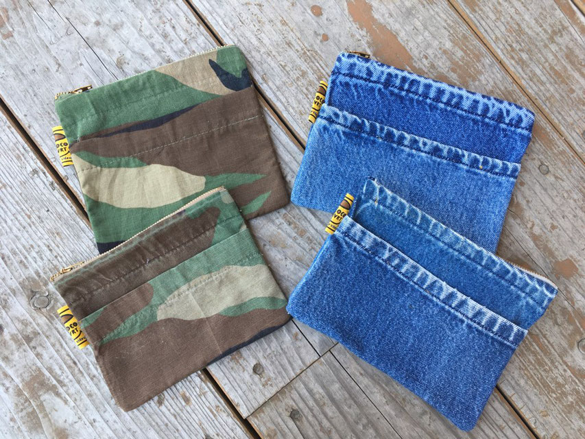 Sunny Side Up(サニーサイドアップ) Remake Pouch 各¥1,600(+TAX)