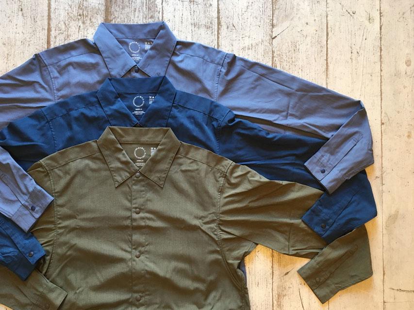 山と道(ヤマトミチ) Bamboo Shirt 各¥11,000(+TAX)