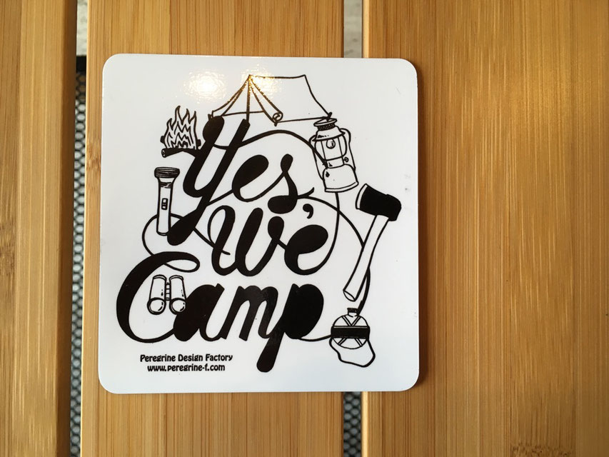Peregrine Furniture(ペレグリンファニチャー)Yes We Camp ! Magnet by Joel Holland ¥1,000(+TAX)