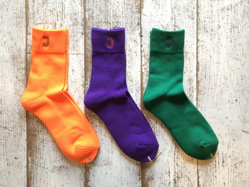 HALF TRACK PRODUCTS(ハーフトラックプロダクツ) Color Sox 各¥1,600(+TAX)