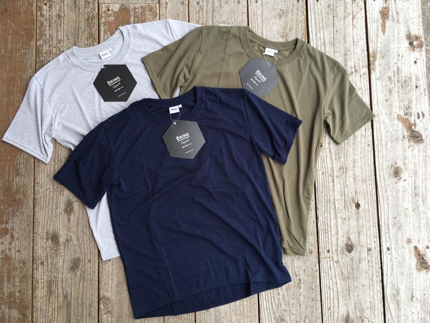BRING(ブリング) T-Shirt Basic DRYCOTTONY 各¥4,300(+TAX)