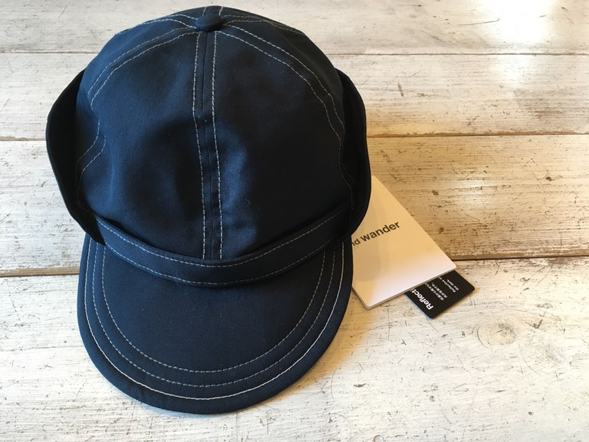 and wander(アンドワンダー) cotton nylon ox cap ¥10,800(税込)