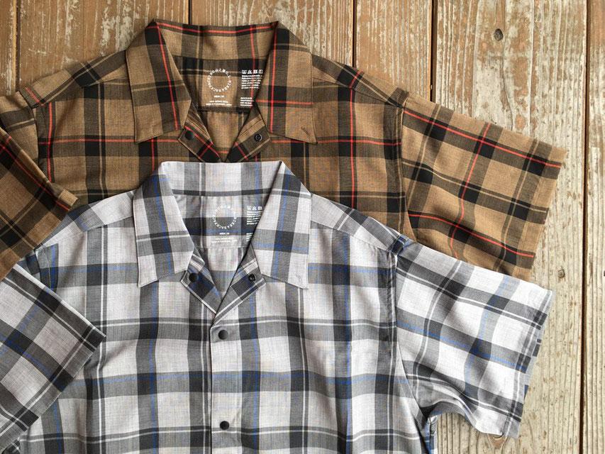 山と道 Merino Short Sleeve Shirt 各¥14,000(+TAX)