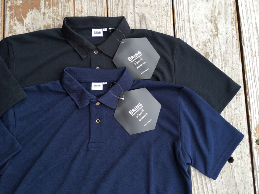 BRING(ブリング) DRYCOTTONY Polo Shirt 各¥5,300(+TAX)
