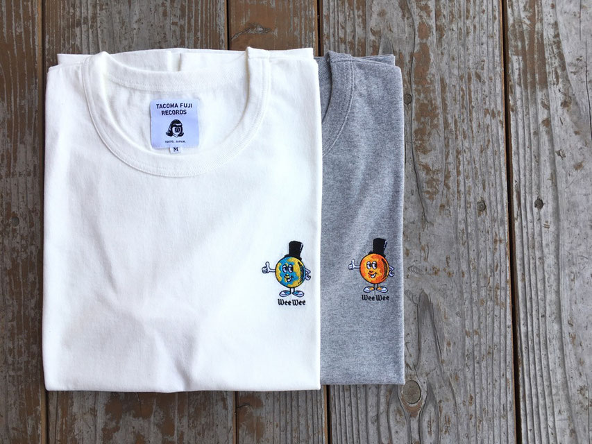 TACOMA FUJI RECORDS(タコマフジレコード) WEE WEE embroidery Tee designed by Jerry UKAI 各¥5,800(+TAX)