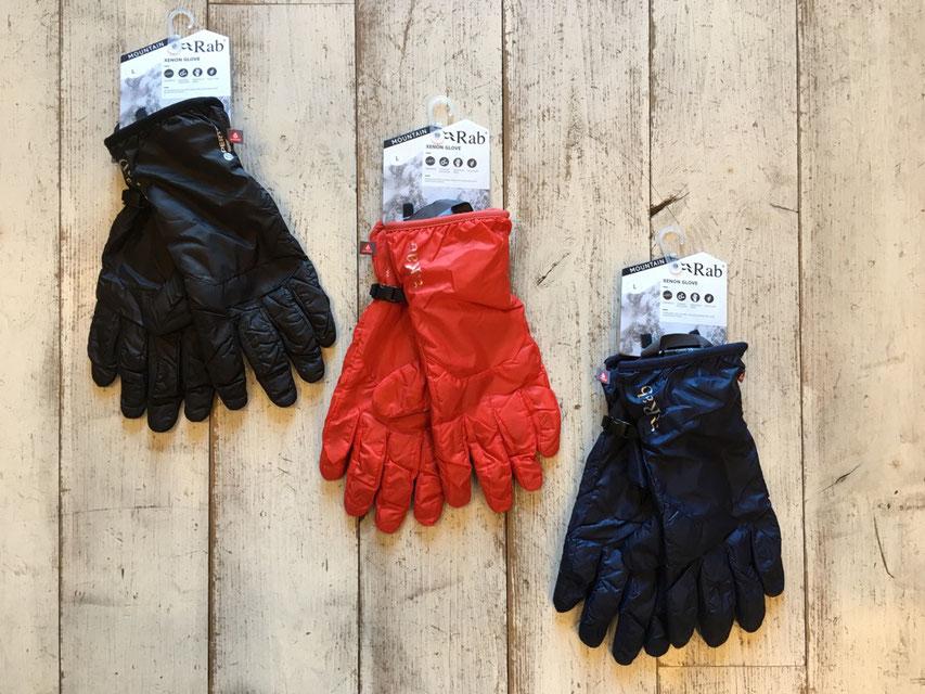 Rab(ラブ) Xenon Glove 各¥6,400(+TAX)