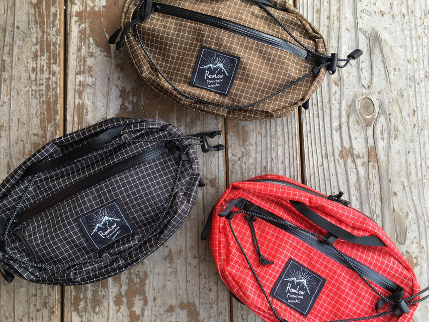 RawLow Mountain Works(ロウロウマウンテンワークス) Nuts Pack SPECTRA 各¥6,500(+TAX)
