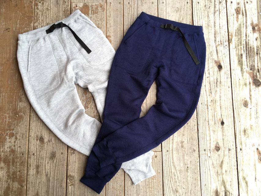 Yetina(イエティナ) sweat pants 各¥21,800(+TAX)