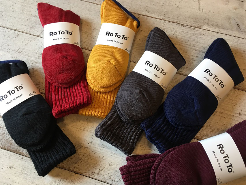 RoToTo(ロトト) LOOSE PILE SOCKS 各¥1,700(+TAX)