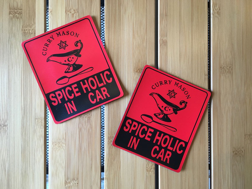 CURRYMASON(カリーメイソン) MAGNET STICKER(RED)¥900(+TAX)