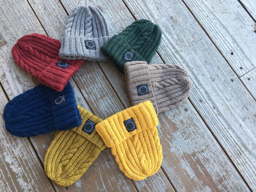 山と道(ヤマトミチ) Merino Knit Cap 各¥4,500(+TAX)