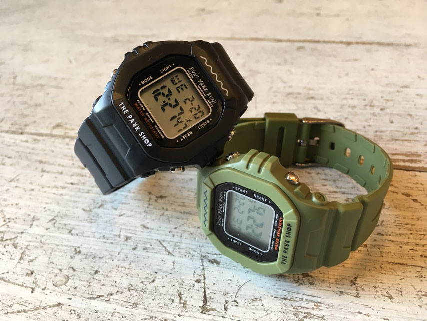 THE PARK SHOP(ザ・パークショップ) TECHBOY WATCH 各¥3,900(+TAX)